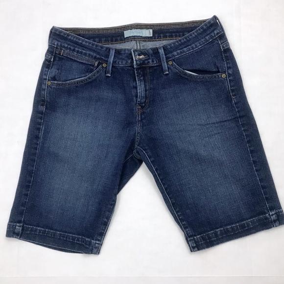 49c577ec864b Levi's Shorts   Levis 545 Womens Blue Denim Stretch Bermuda   Poshmark